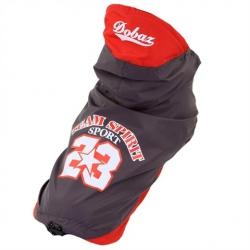 Šedá outdoorová bunda pro psa, vesta pro psa Dobaz