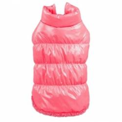 Prošívaná zimní bunda pro psa vel. S - růžová