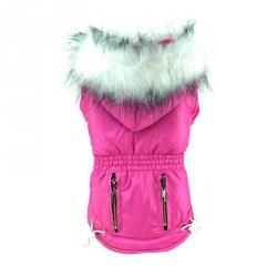 Zimní bunda pro malého psa růžová