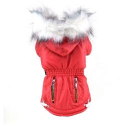 Zimní bunda pro psa červená