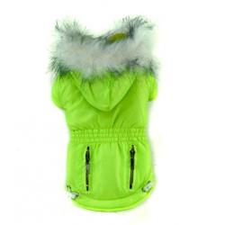 Zimní bunda pro psa zelená