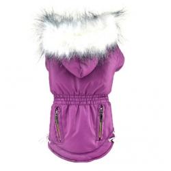 Zimní bunda pro psa vel. S - fialová