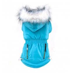 Zimní bunda pro psa vel. M - modrá