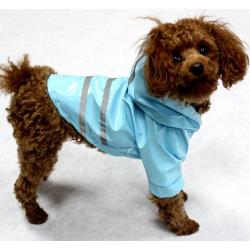 Pláštěnka pro psa pogumovaná - modrá vel. XS