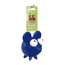 Latexová hračka pro psa Huhubamboo myš - modrá