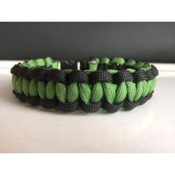 Obojek pro psa Army paracord Snake zeleno/černý