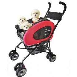 Kočárek pro psa Inno Pet Buggy 5v1 - červený