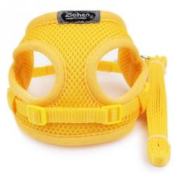 Žlutý postroj pro psa s vodítkem vel. XS/S