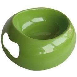 Zelená plastová miska pro psa Bone Bone 250 ml