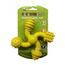 Hračka pro psa Huhubamboo kříž - žlutý