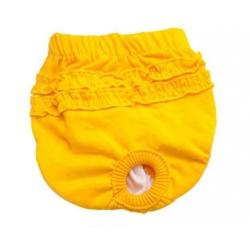 Hárací kalhotky pro psa žluté vel. XS