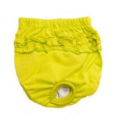 Hárací kalhotky pro psa zelené vel. XS