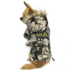 Maskáčová bunda pro psa Army vel. S - zeleno/písková