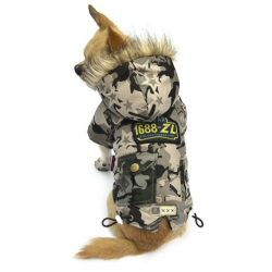 Maskáčová bunda pro psa Army vel. M - zelená