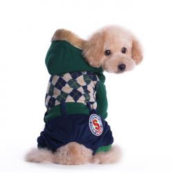 Overal pro psa s kožíškem - zelený vel. S