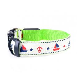 Svítící obojek pro psa Sailor - zelený