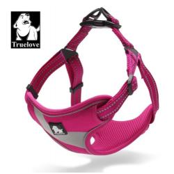 Sportovní postroj pro psa True Love neonový růžový vel. S