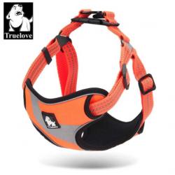 Sportovní postroj pro psa True Love neonový oranžový