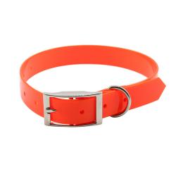 Oranžový silikonový obojek pro psa Tropical Jelly