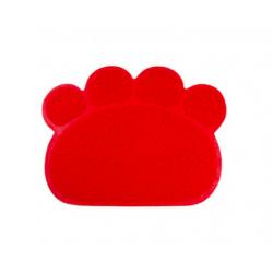 Prostírání - gumová podložka pod misky pro psa červená