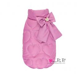 Luxusní zimní vesta pro psa Pretty Pet Heart - vel. M - fialová