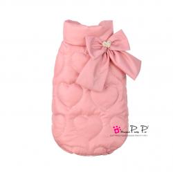 Luxusní zimní vesta pro psa Pretty Pet Heart - vel. S - růžová
