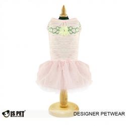 Luxusní růžové šaty pro psa IS Pet