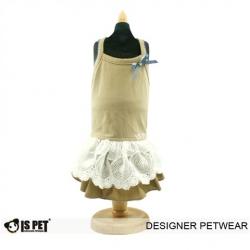 Luxusní hnědé šaty pro psa IS Pet