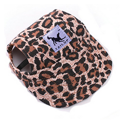 Letní čepice pro psa, kšiltovka pro psa - leopard