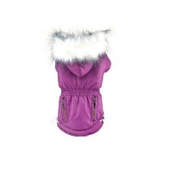 Zimní bunda pro psa vel. XXS - fialová