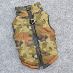 Army maskáčová zimní bunda/vesta pro psa vel. L