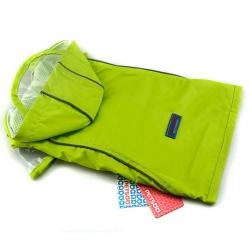 Zelený outdoorový kabátek pro psa