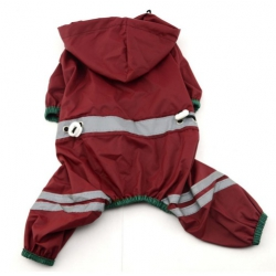 Červená pláštěnka pro psa, overal vel. M