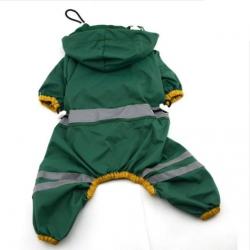 Zelená pláštěnka pro psa, overal vel. S