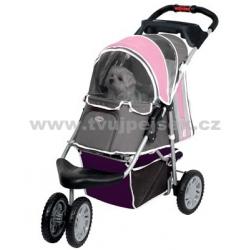 Kočárek pro psa Inno Pet First class - růžový