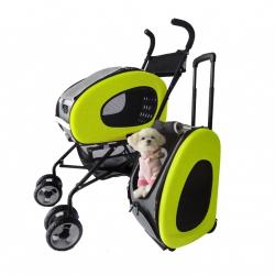 Kočárek pro psa Inno Pet Buggy 5v1 - zelený