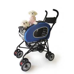 Kočárek pro psa Inno Pet Buggy 5v1 - modrý