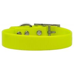 Žlutý  silikonový obojek pro psa Tropical Jelly S/M