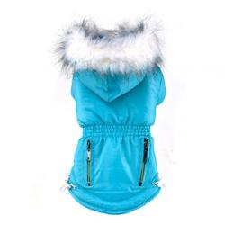 Zimní bunda pro psa vel. S - modrá