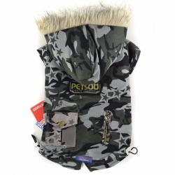 Maskáčová Army bunda pro psa vel. XS